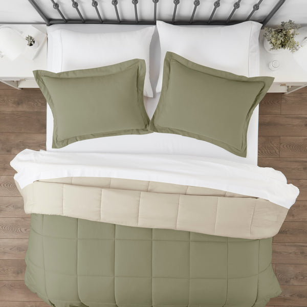 Home Collection 3pc Reversible Down Alternative Comforter Set