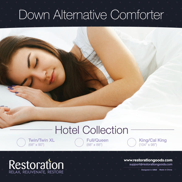 Sleep Restoration Down Alternative Comforter 2300 Series - Best Hotel Quality Hypoallergenic Duvet Insert Bedding