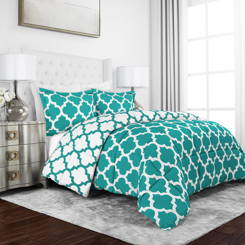Sleep Restoration Quatrefoil Pattern Comforter Collection