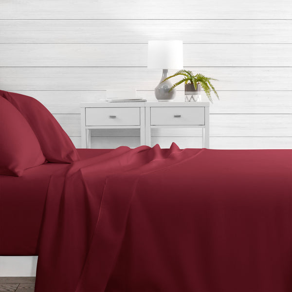 Egyptian Luxury Hotel Collection 4-Piece Bed Sheet Set - Deep Pockets, Wrinkle and Fade Resistant, Hypoallergenic Sheet and Pillow Case Set