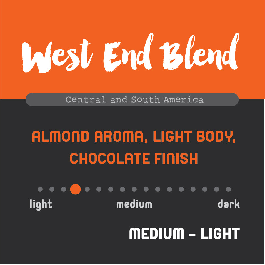 Historic Noir Coffee Group West End Blend Whole Bean Coffee