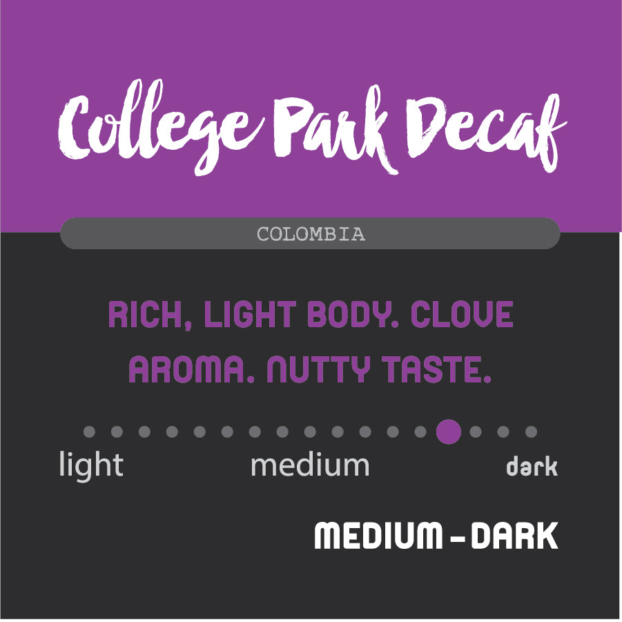 Historic Noir Coffee Group College Park Decaf Blend Coffee Decaffeinated