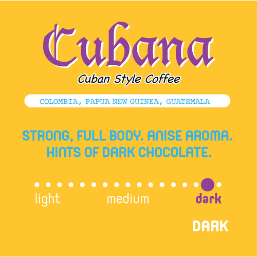 Historic Noir Coffee Group Cubana Blend Ground Coffee Cuban