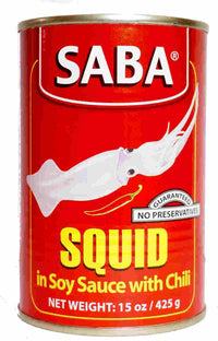 Saba Squid and Soy Sauce 155 gm Hot - Mabrook