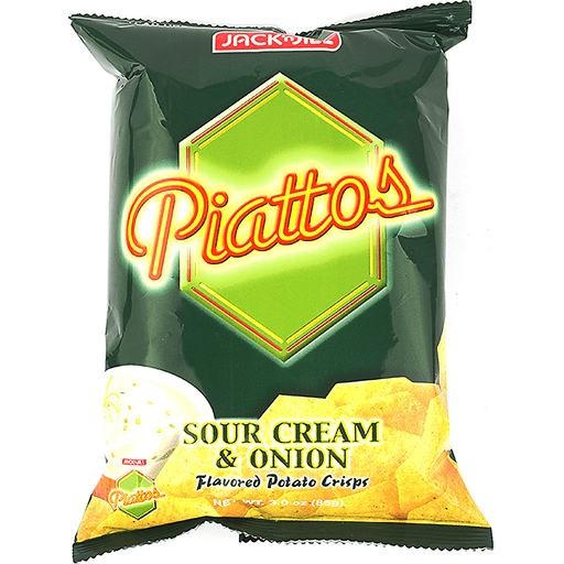 JACK N JILL PIATTOS SOUR CREAM & ONION 85G - Mabrook