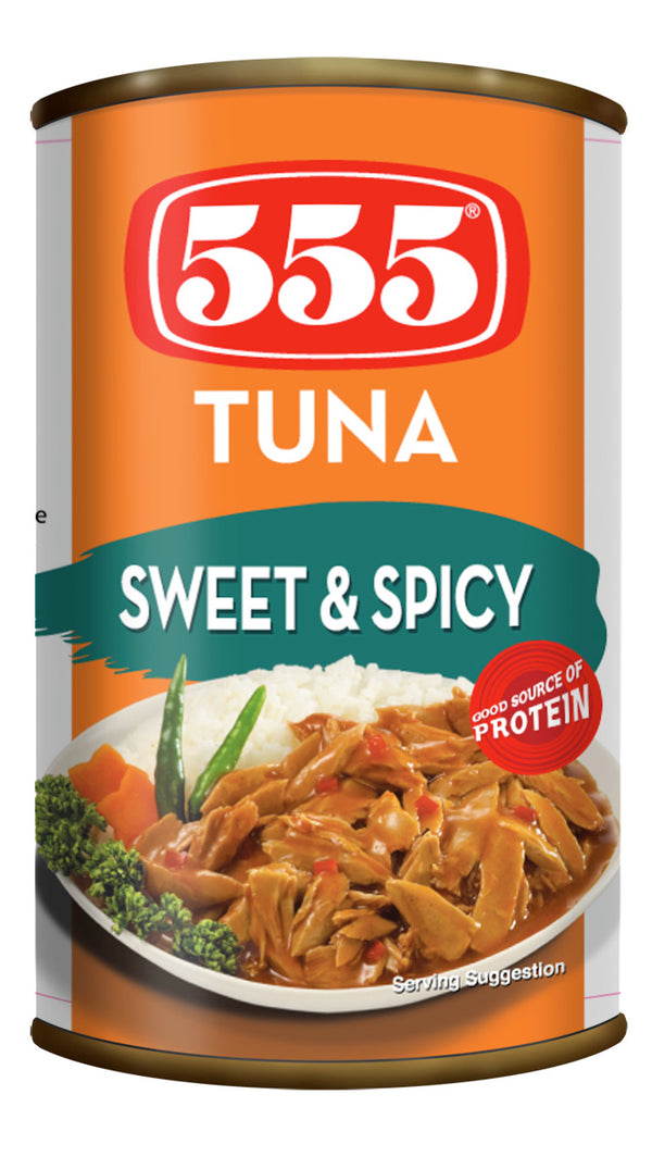 555 TUNA SWEET&SPICY 155GM - Mabrook