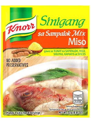 KNORR SINIGANG NA MAY MISO RCIPE MIX 25G