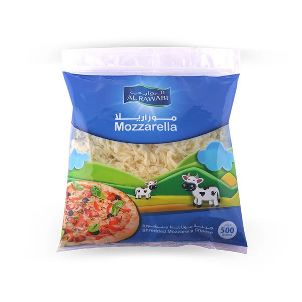 AL RAWABI  SHREDDED MOZZARELLA  CHEESE  - 500 GM - Mabrook