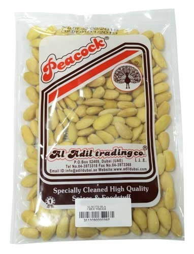 ALMOND BLACHED WHOLE 1KG - Mabrook