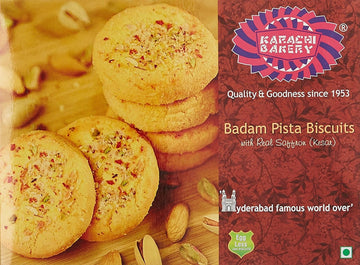 KARACHI BAKERY PISTA ALMOND BISCUITS 500GM