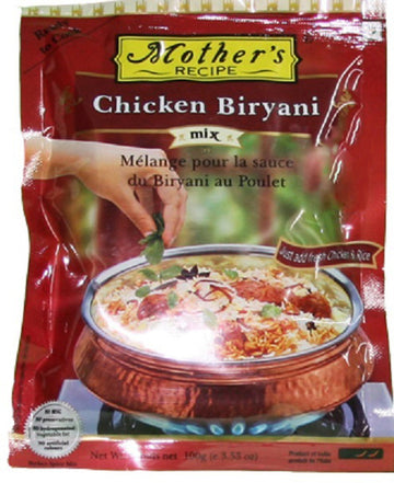 Mother's Recipe Chicken Biryani Spice Mix - vegetarian, preservative free, MSG free