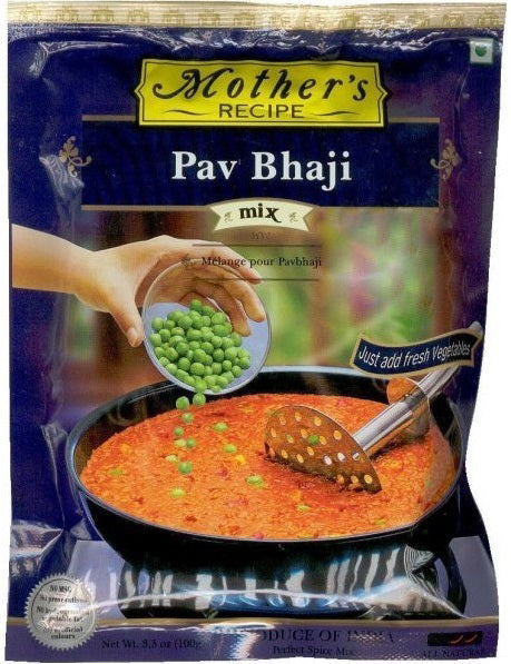 Mother's Recipe Pav Bhaji Spice Mix - vegetarian, no added aritifical colors & preservatives - Mabrook