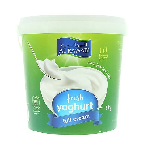 AL RAWABI YOGHURT 2 KG FULL CREAM - Mabrook