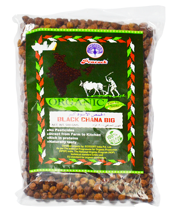 ORGANIC BLACK CHANA BIG 500GM - Mabrook