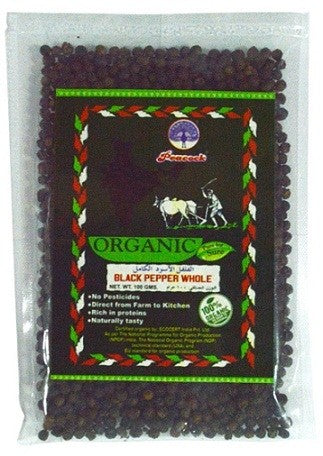 ORGANIC BLACK PAPER WHOLE 100GM - Mabrook