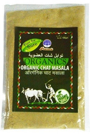 ORGANIC CHAT MASALA 100GM - Mabrook