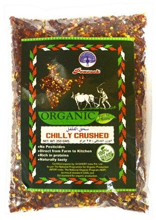 ORGANIC CHILLY CRUSHED 250GM - Mabrook