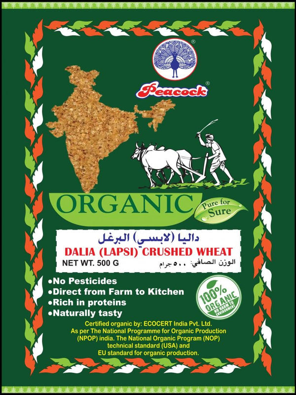 ORGANIC DALIYA (LAPSI) CRUSHED WHEAT 500GM - Mabrook