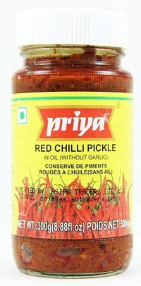 PRIYA RED CHILLIES PICKLE 300G - Mabrook