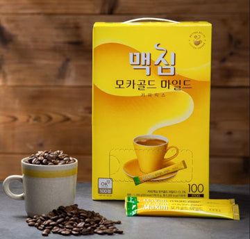 SPECIAL OFFER : Maxim Mocha Gold 3 in 1 Coffee 100 pcs (1.2kg) 맥심커피믹스 (1.2kg)