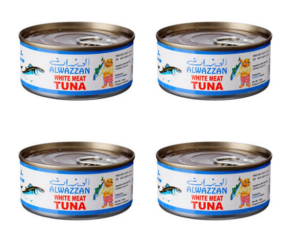 AL WAZAN  TUNA IN SUNFLOWER OIL 4* 160 GM - Mabrook