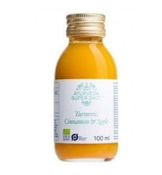 AYURVEDA  SUPER SHOT (TURMERIC,CINNAMON ,APPLE ) 100 ML - Mabrook