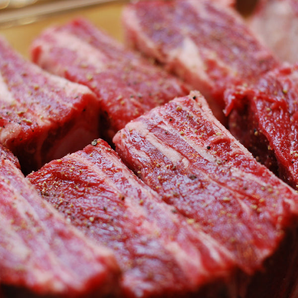 FRESH BEEF CUBES - WITH BONES - PAKISTAN - Mabrook