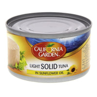 California Garden Light Solid Tuna in sunflower oil 185gm - Mabrook