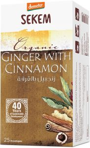 ORGANIC TEA BAG GINGER WITH CINNAMON