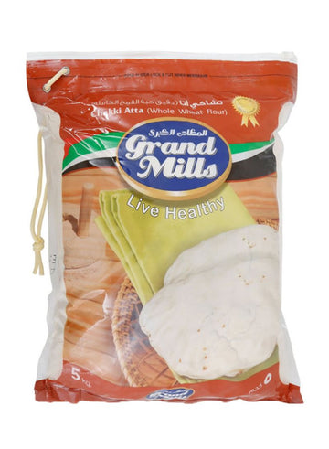 GRAND MILL CHAKKI FRESH ATTA 5 KG (ABUDHABI ONLY)