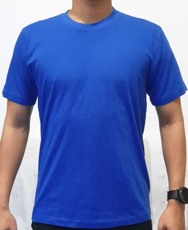 Unisex Pure Cotton Blue  Tshirt - Mabrook