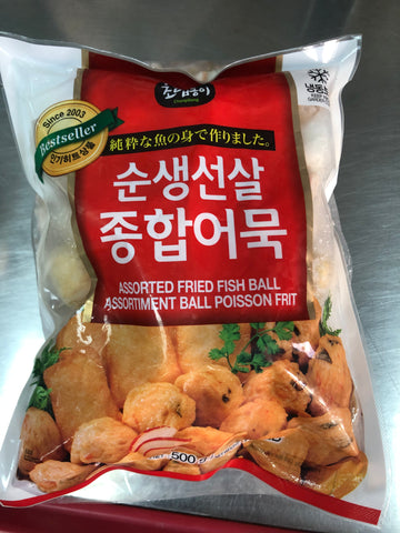 SPECIAL OFFER : KOREAN ASSORTED FRIED FISH BALL 500 G (FROZEN)