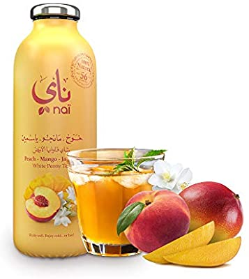 NAI WHITE PEONY TEA (PEACH-MANGO-JASMINE) 473 ML - Mabrook