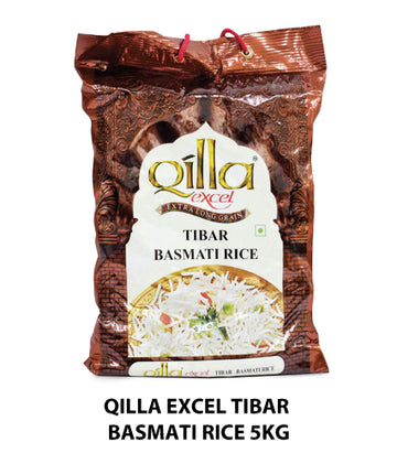 Special offer : Qilla Tibar Basmati Rice 5 kg (Abudhabi and Dubai only)