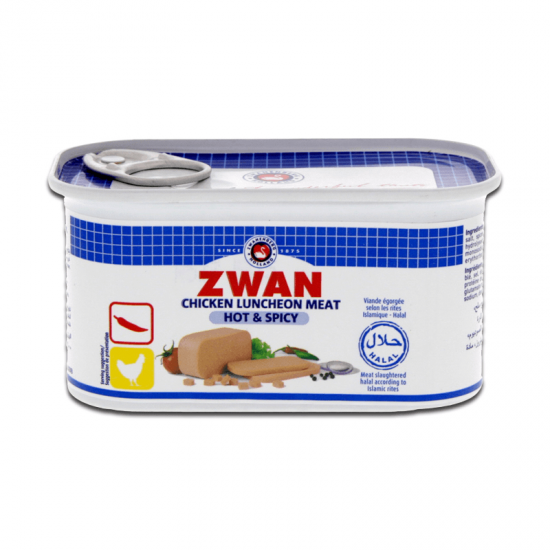 ZWAN CHICKEN LUNCHEON MEAT  HOT AND SPICY  200G - Mabrook
