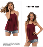 Super Sale -  Lady Tops Chiffon Casual Loose Tank Tops Women 2020 - Mabrook
