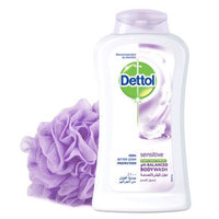 Dettol Sensitive Anti Bacterial Body Wash  - 250 ml - Mabrook