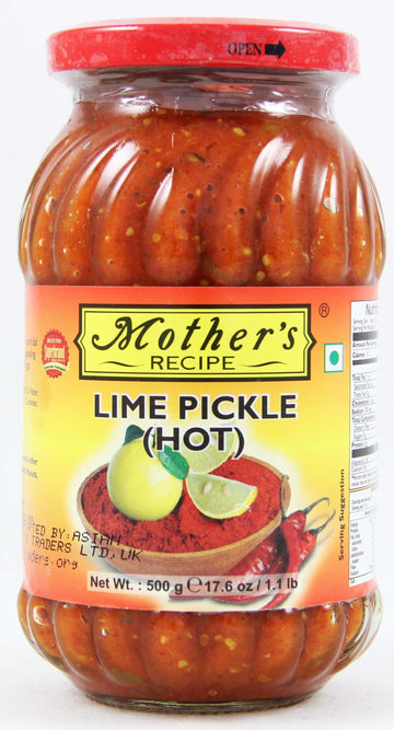 MOTHER'S RECIPE LIME PICKLE HOT - 400 G WITH 33% EXTRA