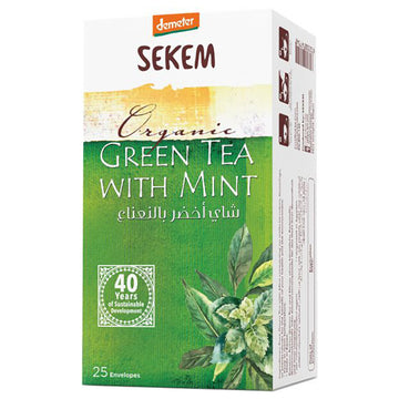 ORGANIC TEA BAG GREEN TEA WITH MINT