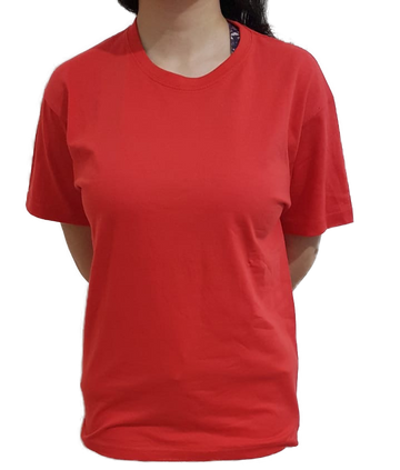 Unisex Pure Cotton Red Tshirt