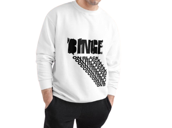 """BINGE ON BLACK"" Champion Sweatshirt - Binge Online Boutique"