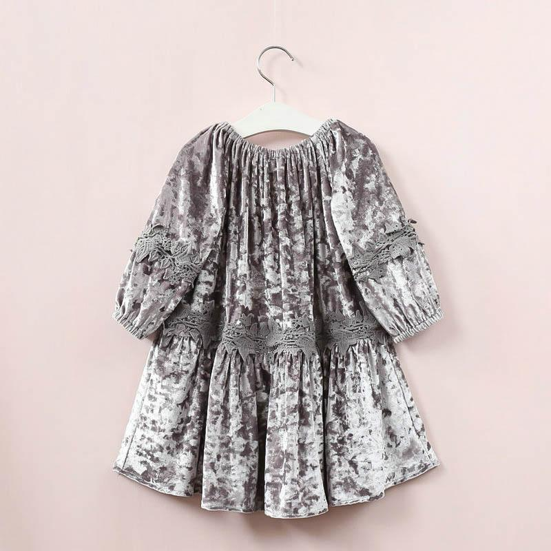 GIRLS Velvet/Lace Gypsy Dress - Binge Online Boutique
