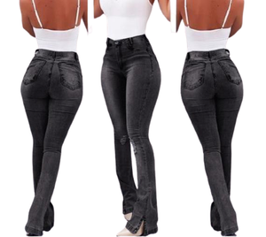 HIGH WAISTED FLARE DENIM [MORE COLORS]
