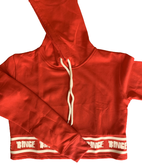 RED CROPPED BINGE HOODIE - Binge Online Boutique