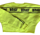 BINGE NEON CROPPED SWEATSHIRT [MORE COLORS]