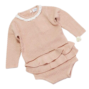 RUFFLE SWEATER SET