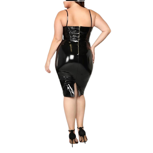 BODYCON LATEX DRESS [S-4XL] - Binge Online Boutique