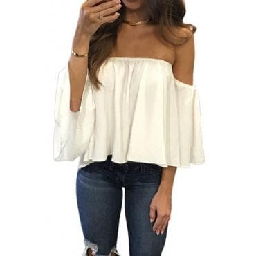 OFF SHOULDER BLOUSE [MORE COLORS] - Binge Online Boutique