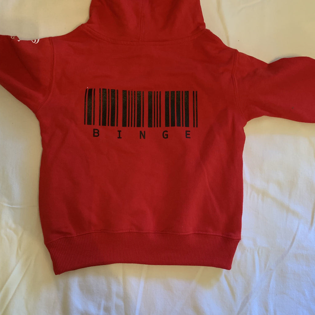 Red BINGE Brand Hoodie [BIG KIDS] - Binge Online Boutique