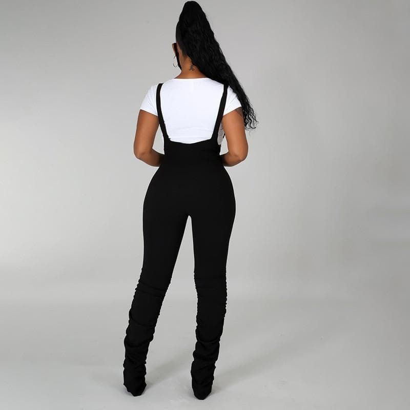 High Waisted Stacked Overralls - Binge Online Boutique